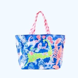Lilly Pulitzer Destination Beach Tote Cape Cod NEW